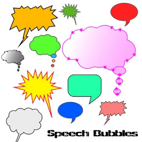 Awesome Free Speech Bubbles Brushes