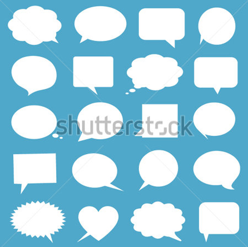 Free Blank Empty White Speech Bubbles