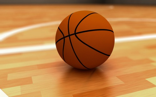 Basketball Rendered in Cinema 4D